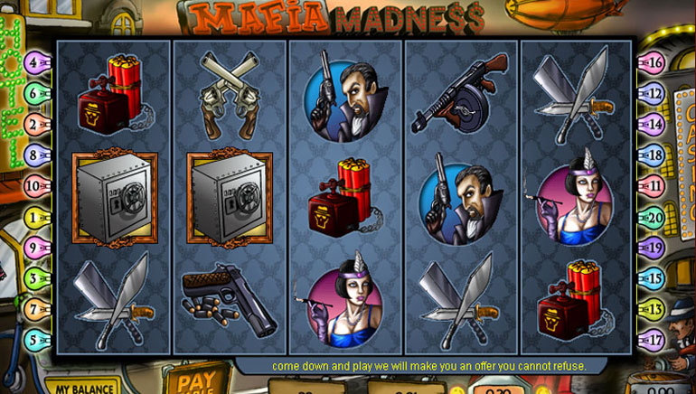 Claim Free Spins on Mafia Madness Video Slot
