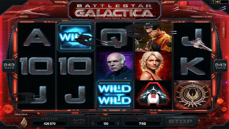 Battlestar Galactica Ships in to Casino La Vida