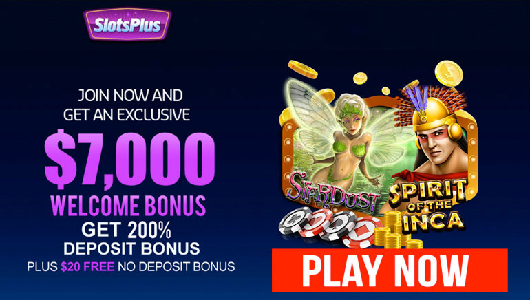 SlotsPlus Sweeps New Players Off Their Feet with a $7,000 Welcome Bonus